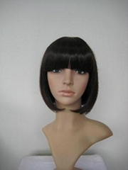 Women black bingle short bang party wig wigs hair