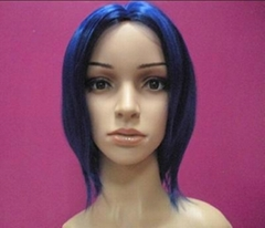 Women black bingle short straight party wig wigs hair