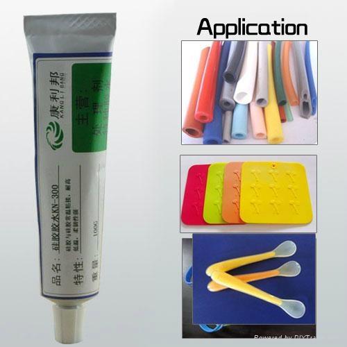 Silicone bonding adhesive at room temperature RTV 1