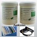 Silicone heat-set adhesive high
