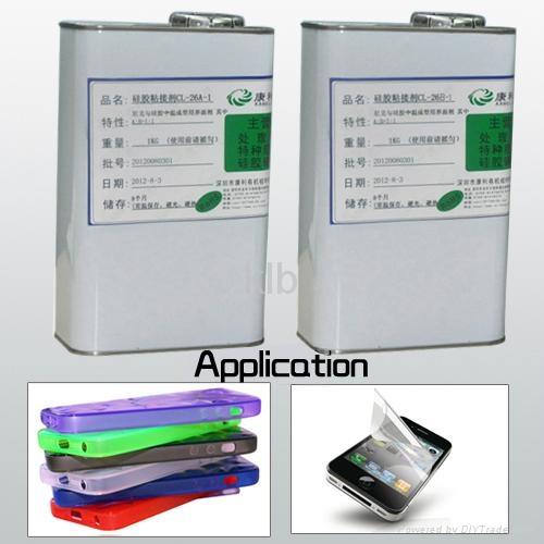Silicone adhesive for platinum cured silicone liquid silicone adhesive 1