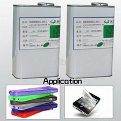 Silicone adhesive for platinum cured silicone liquid silicone adhesive