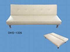 Leather sofa bed DHS-1326