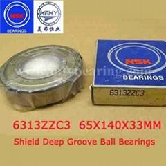 NSK Ball Bearings 6313ZZC3 Shield Deep Groove Ball Bearings 65x140x33 Bearings