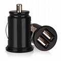 Mini 1A/2.1A 12-24V Dual USB Car Charger 1