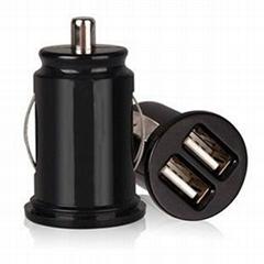 Mini 1A/2.1A 12-24V Dual USB Car Charger
