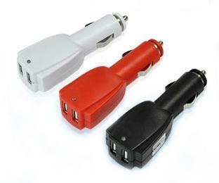 Rocket 0.5A/1A/2A 12-24V Dual USB Car Charger  1