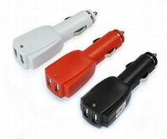 Rocket 0.5A/1A/2A 12-24V Dual USB Car Charger