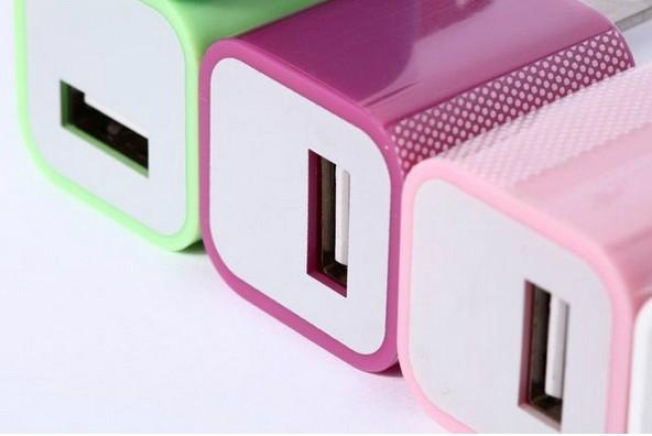Iphone 5V 1A USB Travel Wall Charger 4