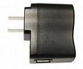 USB 5V 0.5A/1A Travel Wall Charger