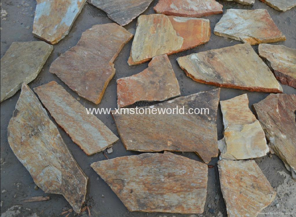 Slate Stone Slabs : Paving slates patio slabs crazy slate lebostone
