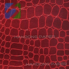 Doube color Embossed PVC Paper for invitation card/book binding Specialty Paper