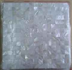 wholesale fresh water white mop shell mosaic