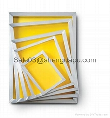 screen printing frame with printing mesh