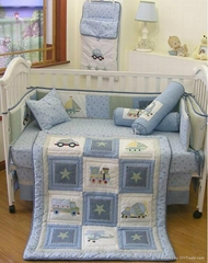 2013 new style  baby bedding set 100% cotton KLF 256