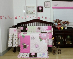 2013 new style  baby bedding set 100% cotton KLF368