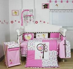 2013 Girl baby bedding set 100% cotton KLF319