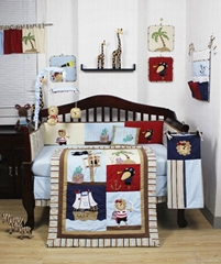 2013 new style  baby bedding set 100% cotton KLF 381