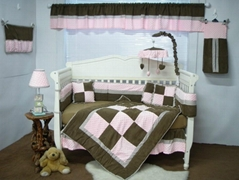 2013 new style  baby bedding set 100% cotton KLF102-pink
