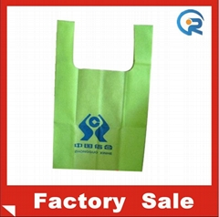 Factory customize  non woven T-shirt bag
