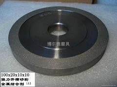 博尔德强力开槽金属结合剂金刚石砂轮