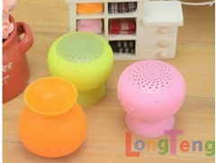 Mini mushroom Car Suction Cup wireless Bluetooth Speaker Sound Box