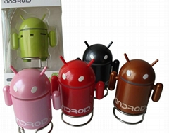 Mini robot shape computer Android Speaker with build-in battery + read TF card