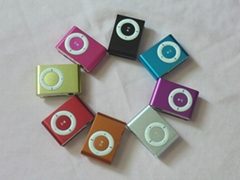 Mini Clip Metal cube MP3 Player samll Support micro SD/TF Card