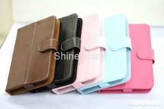 Universal 7 inch Tablet Leather Flip Case Cover 7inch PC Tablet Leather Case