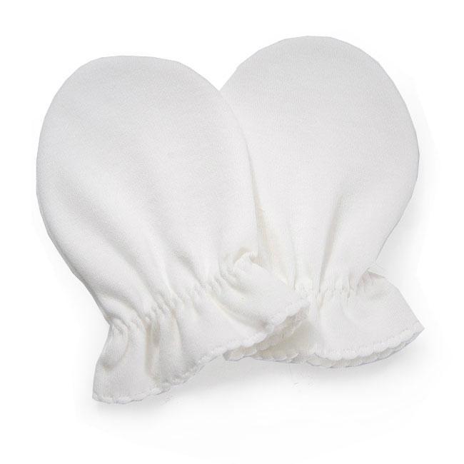 Organic Cotton Baby Scratch Mittens 1