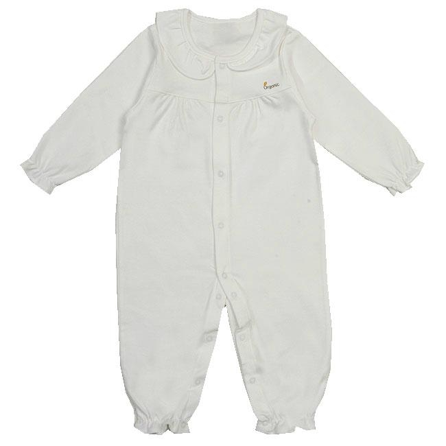 Organic Cotton Frilly Romper 1