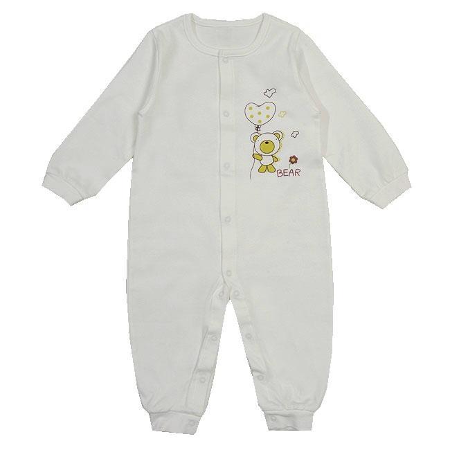 Organic Cotton Teddy Bear Baby Glowsuit (pajama) 1
