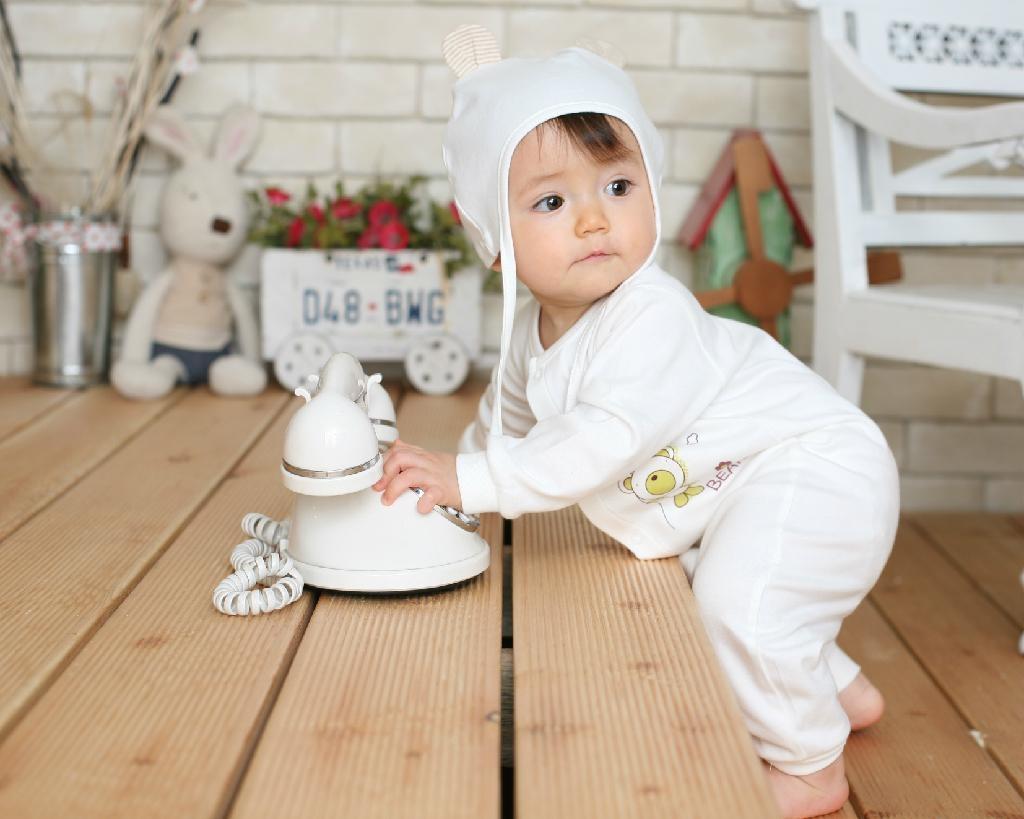 Organic Cotton Teddy Bear Baby Glowsuit (pajama) 2