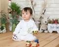 Organic Cotton Teddy Bear Baby Glowsuit (pajama) 3