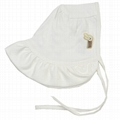 Organic Cotton Baby Frilly Bonnet Hat