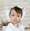 Organic Cotton Baby Frilly Bonnet Hat 2