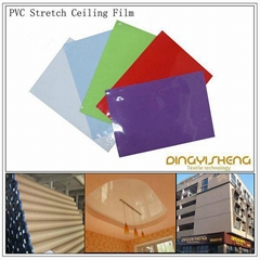 Lacquer stretch ceiling film