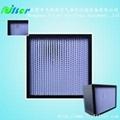high quality deep-pleat hepa filter