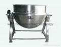 Stainless steel vertical jacket kettle