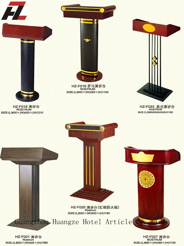 Europe Style Stand Up Rostrum Lectern Podium Hz F001