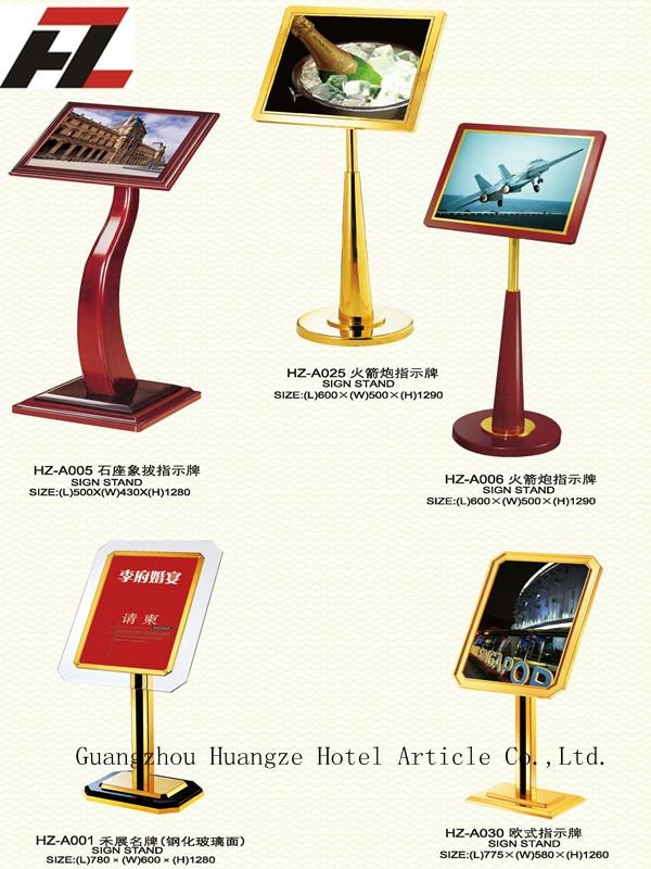 Hotel Sign Stand -Display Stands  2