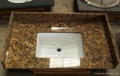 Black Granite Stone Vanity Countertop