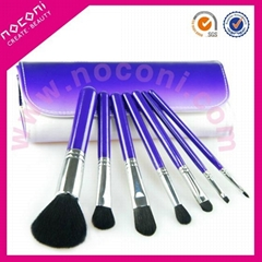 Noconi 7 pcs pink series cosmetic brush set with purple colour bag