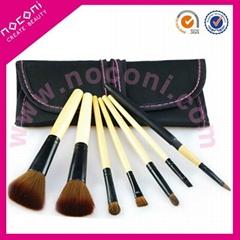 Noconi 7 pcs nylon cosmetic brush set/travel set