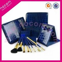 Noconi 2013 blue crocodile series cosmetic set 8pcs goat hair brush set