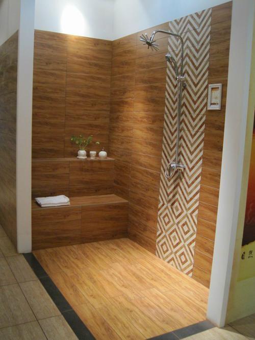 Wood Look Porcelain Tile 600600mm Bathroom Wall Tiles