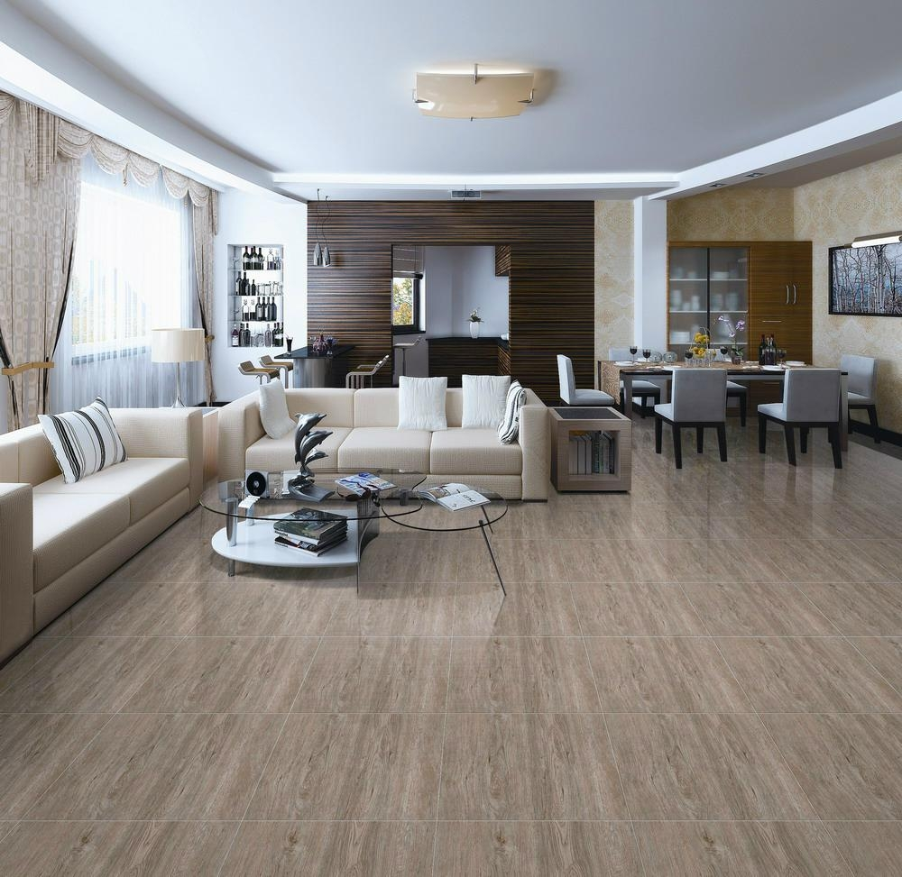 Wood look porcelain tile 600 600mm ceramic floor tiles for Ceramic flooring