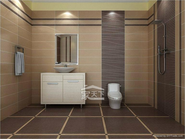 Cute Porcelain Wall Tiles Bathroom Contemporary - Bathroom with ...