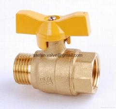 gas valve brass