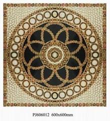 solemn ceramic puzzle floor tile